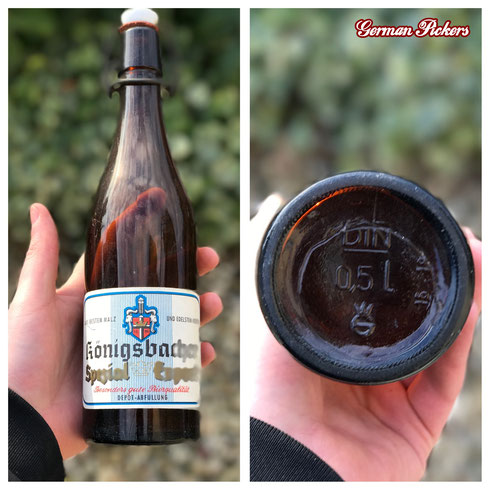 Historische / Antike Bierflasche:  Königsbacher Brauerei A.G. / Bräu  Koblenz um 1950 Spezial Export