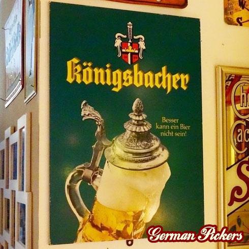 Königsbacher Pils - Blechschild  Deutschland um 1960  33 x 50 cm, C. ROBERT DOLD Offenburg