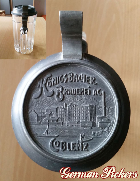 Königsbacher Bräu Coblenz / Koblenz  Bierkrüge  um 1900