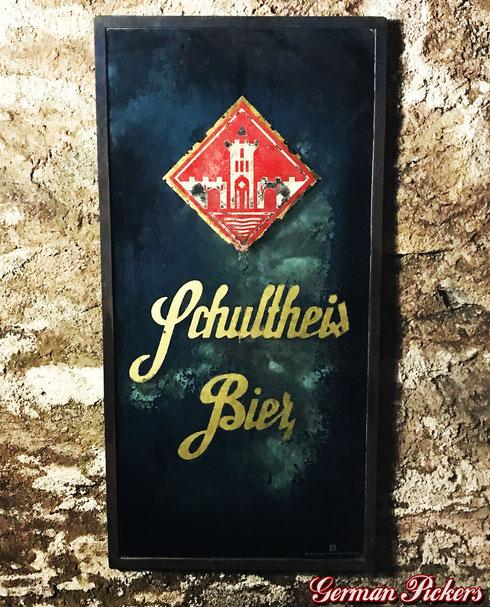 Schultheis Bier Brauerei Weissenthurm  Hinterglasschild  um 1930  - Schultheis Brewery Glasssign  Germany 1930`s