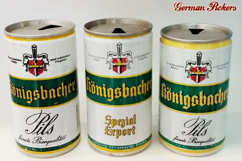 Alte Königsbacher Bierdosen  um 1960 / 1970