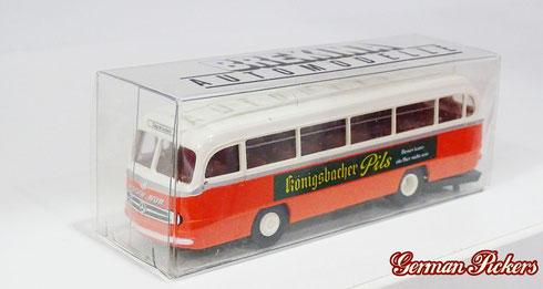 "Brekina Automodelle  Königsbacher Bus Mercedes  ""Königsbacher Pils"""