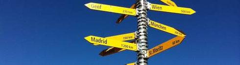Wegweiser: Wohin führt der Weg zum Ziel?