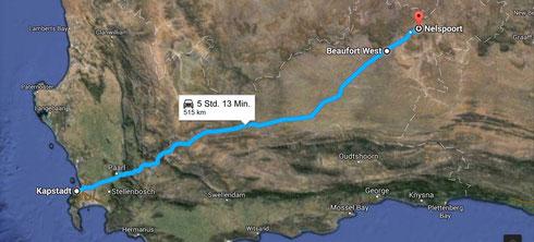 Von Kapstadt in die Wüste