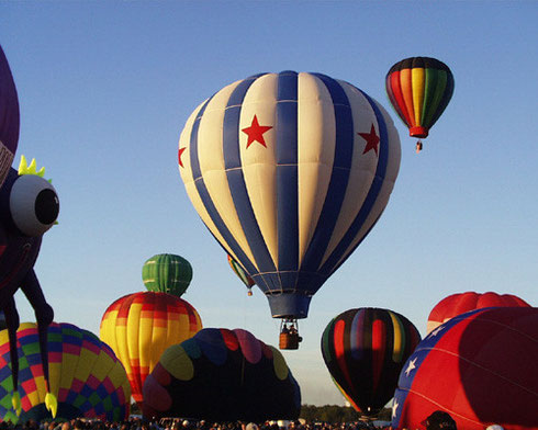 A Hundred Balloons rise at Dawn - Adirondack Balloon Fest Photo