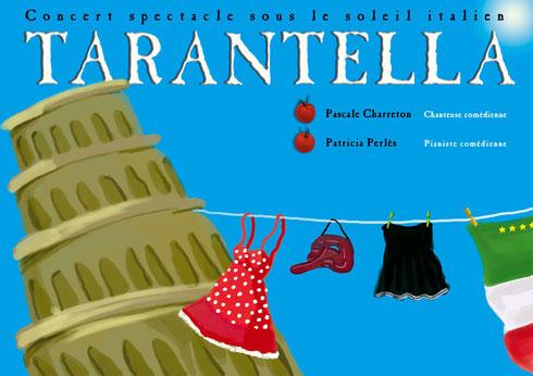 Tarantella, Pascale Charreton, Spectacle Italien, Comités de jumelage Italiens
