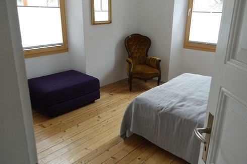 Bedroom 3 and 4 / First floor : Both identically equipped with one 140cm and one spare bed each.