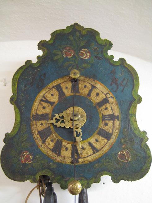 Zappler 1/2 Stundenschlagwerk mit Wecker Sign. 1854