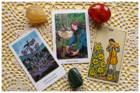 Decks: Vision Quest Tarot  - Gaian Tarot - Smith-Waite Centennial Tarot