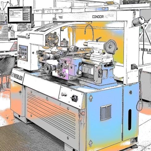Drehbank: Mit freundlicher Genehmigung:  WEILER Werkzeugmaschinen GmbH