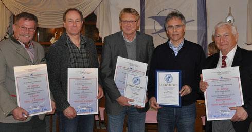 Uli Schwenger, Gert Bräutigam, Thomas Lückert, Rainer Fröhlich und Wolfgang Trube (v.l.n.r.)