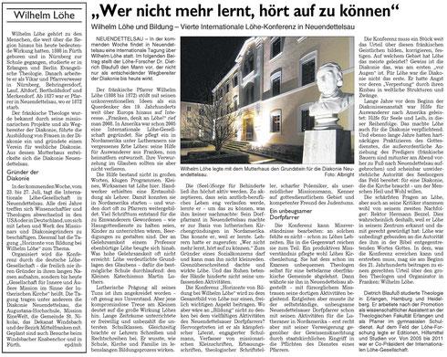 Fränkische Landeszeitung, 19.7.2014
