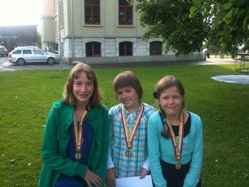 Von links nach rechts: Michèle Kunz, Julia Martin und Anja Schneider
