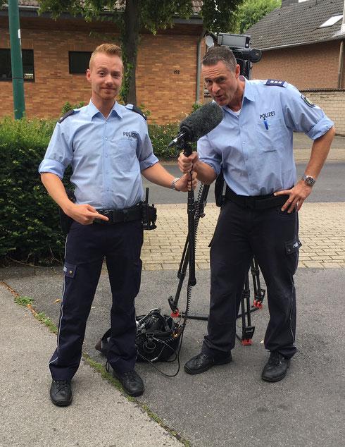 Julian Zimmling & Achim Kansy in der Drehpause