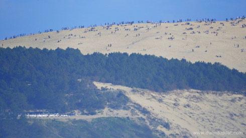 Beaucoup de monde sur la dune le samedi de Pâques !