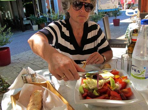 griechischer Salat war bei jedem Essen dabei