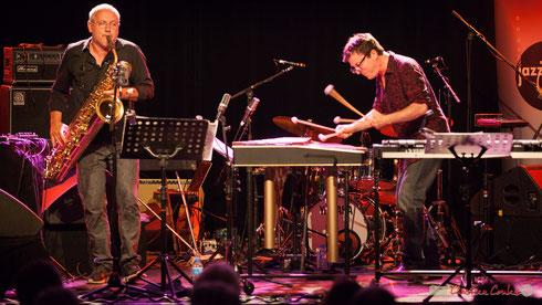 Duo Franck Tortiller, vibraphone, marimba / François Corneloup, saxophones. Festival JAZZ360, Cénac. 10/06/2017