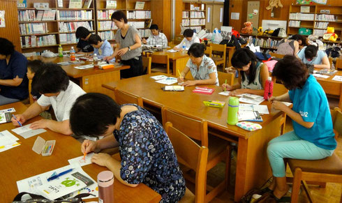 東京 太田青空学校での「色育講座」(2012年8月)