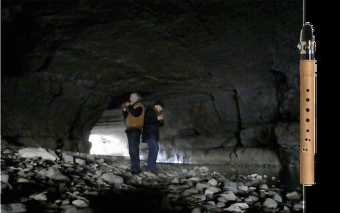 Für die Katharer und alle religiös Verfolgten: Konzert mit meinem Freund Gerd Anthony in den Höhlen von Minerve, Südfrankreich