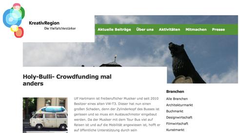 Kreativregion Braunschweig Wolfsburg Crowdfunding ♫Holy-Bulli♫ Tour-Bus ulf hartmann