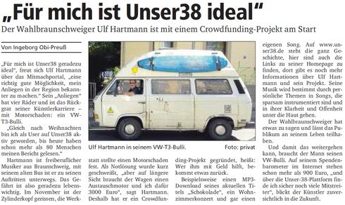 neue braunschweiger ulf hartmann holy bully unser38 crowdfunding
