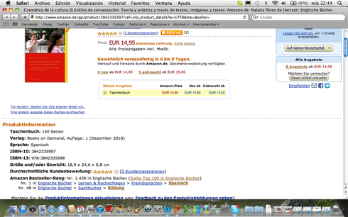 Puesto 1 en Amazon Alemania. 48 en Bildung.
