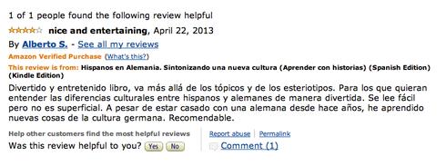 Opinión Alberto en Amazon.com