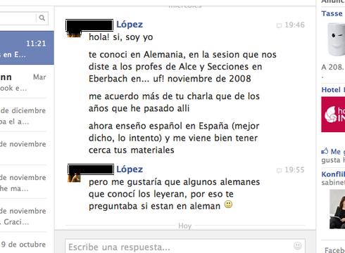 Opinión de ___ López en Facebook