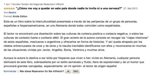 Opinión Beatriz Amazon.de
