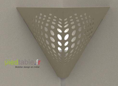 Coiffe d'ambiance design en métal thermolaqué