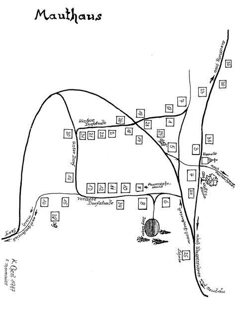 Ortsplan von Mauthaus (Mýtnice)