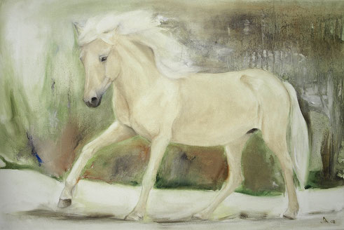 Yrsa, Öl auf Baumwollgewebe, 40 x 60 cm, 2008