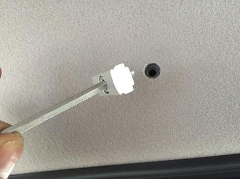 ▲クリップの穴を利用するので、穴あけ加工は必要ありません。