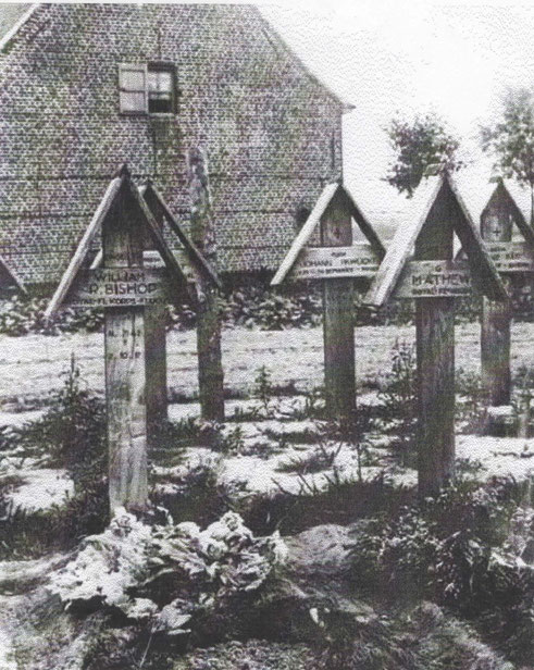 Original graves at Meulebeeke church. (Note Mackintosh served under the name of Mathew)