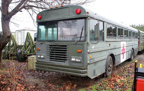 US-Schulbus aus Belgien (Januar 2012)