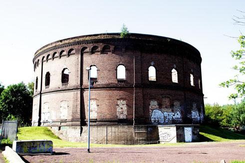 Gasometer Holtzplatz in Halle