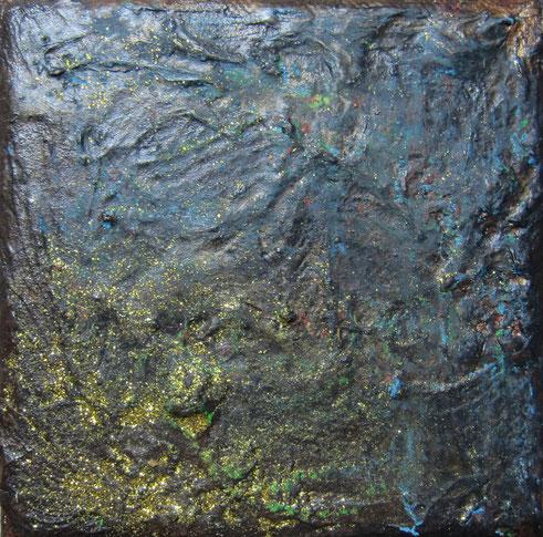STERNENSTAUB 10 x 10 cm Mischtechnik