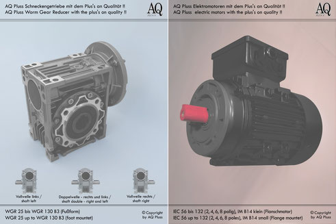Schneckengetriebe mit E Motor 400 V
