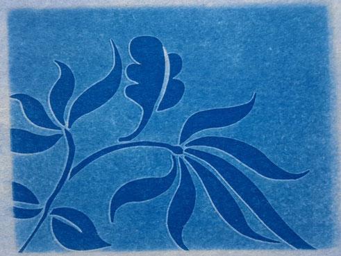 Schrift und Kunst Cyanotypie
