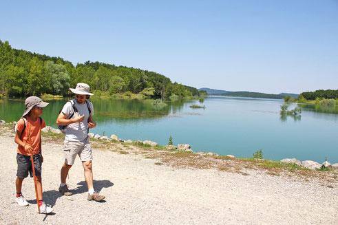 rando Pyrénées Audoises - Lac de Montbel - alerte canicule