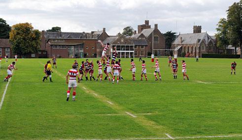 équipe de rugby masculine d'un college anglais