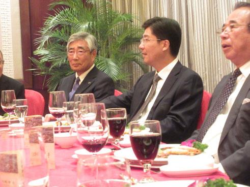 温州市長主催歓迎レセプション。