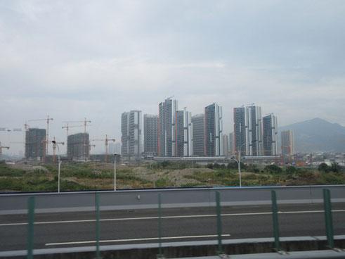 温州市高層住宅建設ラッシュ
