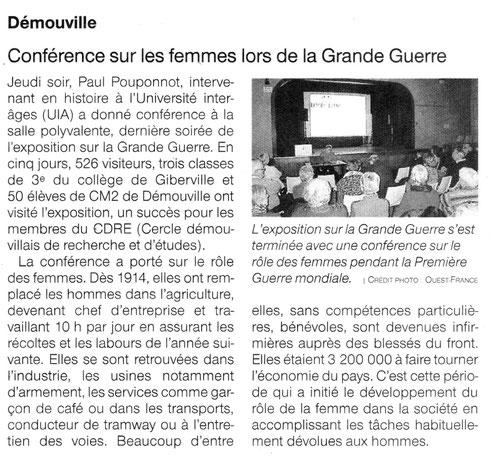 Article Ouest-France du 24/11/2018