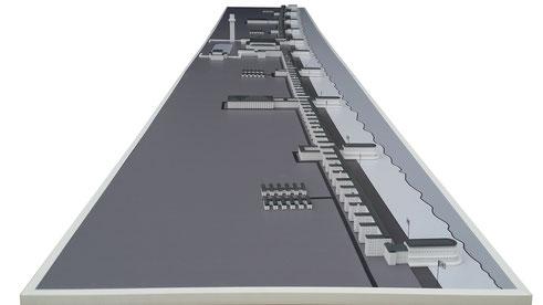 """3D gedrucktes Modell von Prora """"KDF-Seebad"""""""