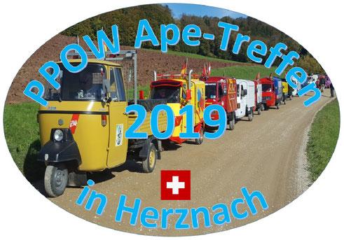 PPOW Ape-Treffen in Herznach 2019, Ausschreibung und Anmeldung