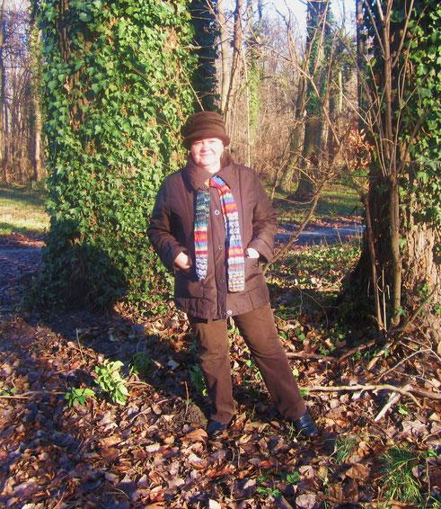 Foto: Mein Nachbar  den ich zufällig mit seiner Frau getroffen habe.......sonniger Spaziergang im Schlosspark Pottendorf , am 29.12.2012