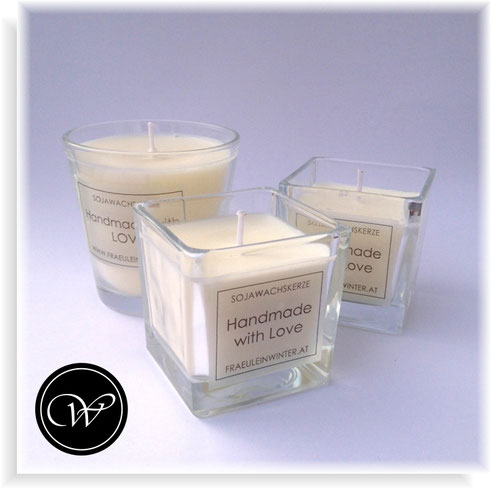 Handmade Soy wax candle by Fraeulein Winter