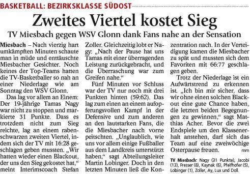 Bericht im Miesbacher Merkur am 20.3.2018 - Zum Vergrößern klicken