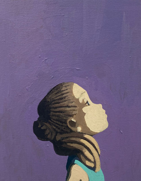 ponytail - Acryl auf Leinwand, 30x24cm, 2020 | verkauft